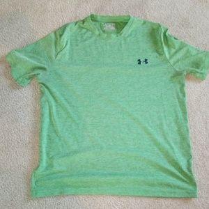 Under Armour Mens L green t-shirt